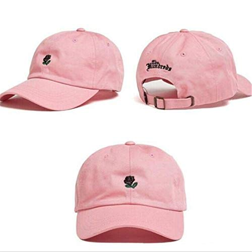 Hip Hop 5 Colors Hat The Rose Embroidered Baseball Caps Adjustable Women Fashion Sun Hat,as The Picture shows4 ()