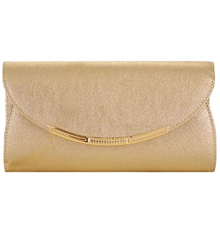 Women Evening Party Clutch Bags Handbag Bridal Wedding Purse (gold M)