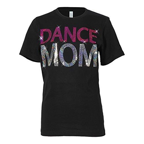 Dance Mom Sequin T-Shirt Black Large
