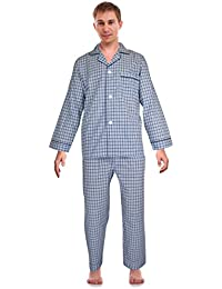 Classical Sleepwear Mens Broadcloth Woven Pajama Set