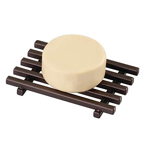 InterDesign Kyoto Soap Saver – Self Draining Soap Holder for Shower or Sinks - Bronze