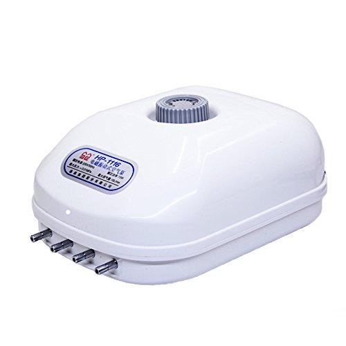 Gift Prod 15W 10L/Min Energy Saving Air Pump 300 Gallon Adjustable Silent Oxygen Pump Large Aquarium Fish Tank 4 outlet (Style 1) by Gift Prod