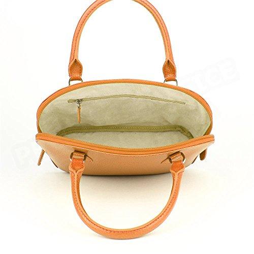 Mini sac à main New-york cuir Orange Beaubourg