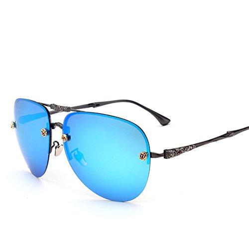 Folding Aviator Sun Glasses for Women Tinted Full Mirrored Lens Flash - Lensed Glasses Yellow