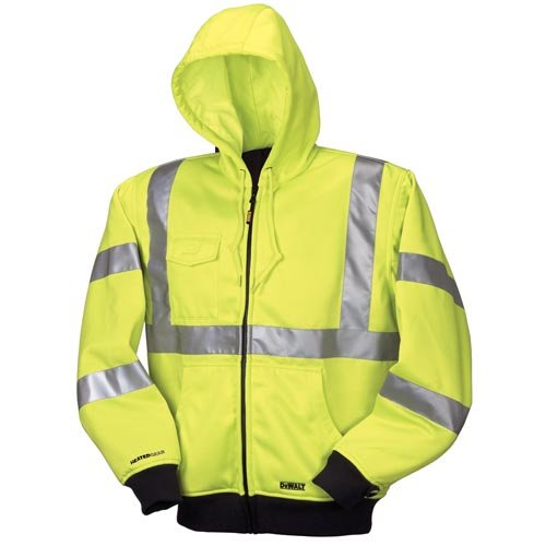 DEWALT DCHJ071B-XL 20V/12V MAX Bare High-Vis Hooded Heated Jacket, High-Vis, X-Large