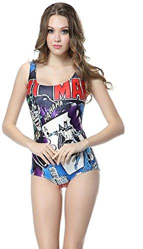 Cartoon One Piece (Thenice Women's Sexy One-piece Swimsuits Bikini (Poker pattern))
