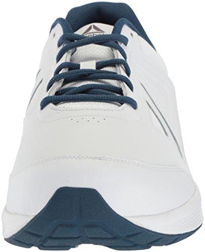 Mens Del Reebok Camminata Ultra 6 Dmx Max 4e Sneaker Bianco / Lavato Blu - Largo E