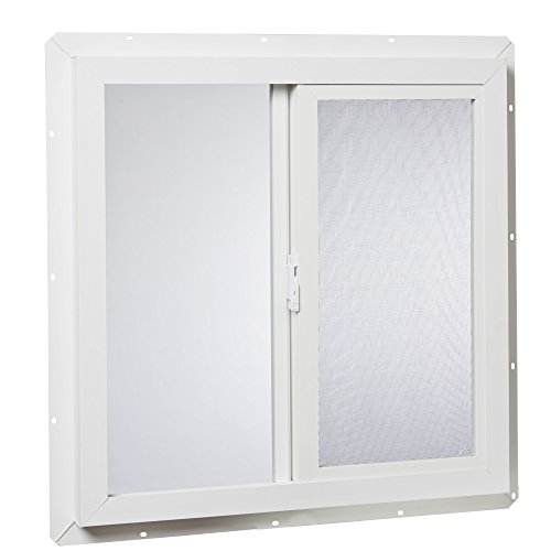 Insulated Vinyl Windows - Park Ridge Products VUSI2424PR Park Ridge Slider x 24 in. Utility Insulated Sliding Vinyl Window - White, 24
