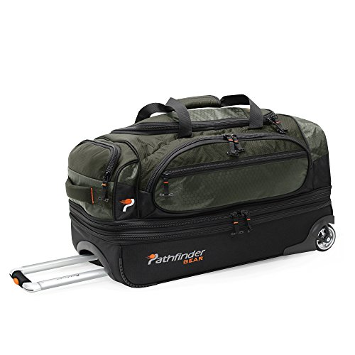 - Pathfinder Gear 26 Inch Rolling Drop Bottom Duffel, Olive, One Size