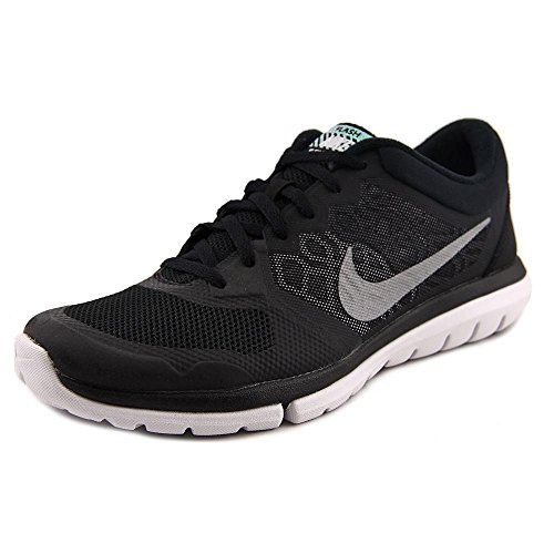 Nike Men's Flex 2015 RN Flash Running Shoe (9 D(M) US, Black/Silver) (Nike Flex Run 2015 Mens Running Shoes)