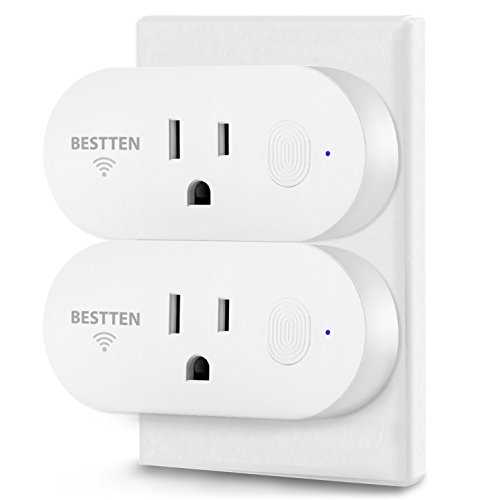 [2 Pack] BESTTEN 15A/1875W Mini Wi-Fi Smart Outlet with Energy Monitoring, Works with Amazon Alexa Echo and Google Home, Easy & Quick Set Up, No Hub Required, FCC Certified, White by BESTTEN (Image #7)