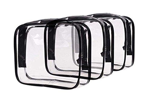 Louise Maelys 3 Packs Clear Cosmetics Bag Waterproof Travel Bag Toiletry Organizer Case Medium by Louise Maelys