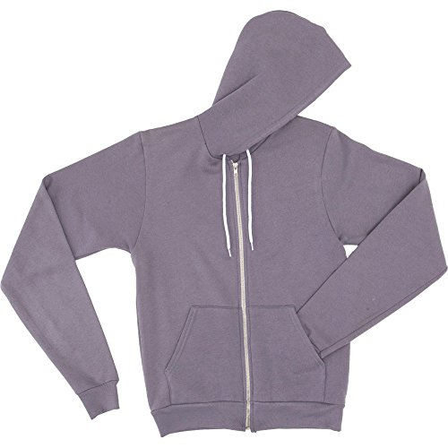 American Flex Zip Hoodie Unisex Polycotton Mens Fleece Slate Apparel r7wxYEqr