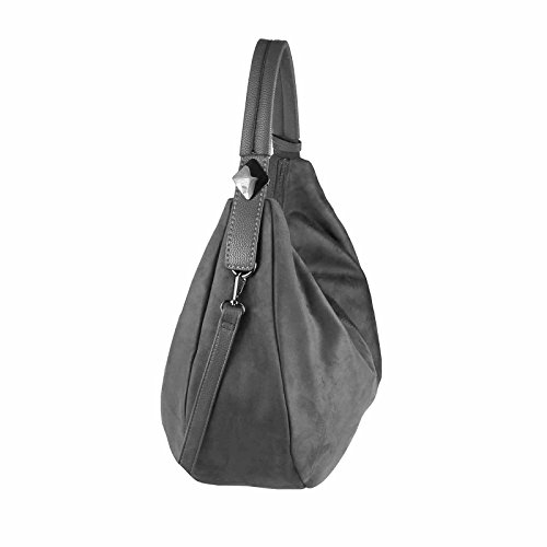 OBC Only-Beautiful-Couture - Bolso estilo bolera para mujer negro negro ca.: 45x30x14 cm (BxHxT) gris oscuro