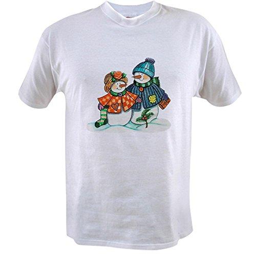 T-shirt Value Snow - Royal Lion Value T-Shirt Christmas Snow Couple Snow Men - Large
