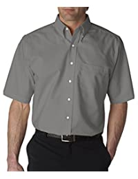UltraClub Men's Classic Wrinkle-Free Short-Sleeve Oxford 8972