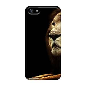 Awesome Case Cover/iphone 5/5s Defender Case Cover(lion On Black)
