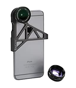 ExoLens Wide Angle and Telephoto Lens for iPhone 6, Aluminum (9472201)