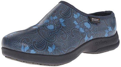 Bogs Femmes Oliver Batik Chaussure De Travail Antidérapante Marine Multi