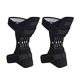 1 Pair Knee Braces Joint Supports, Power Lifts Knee Protection Booster, Knee Stabilizer Pads Protective Gear with…