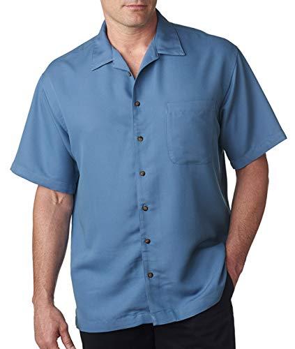 Breeze Outfit - Ultraclub Mens Cabana Breeze Camp Shirt 8980 -Wedgewood S