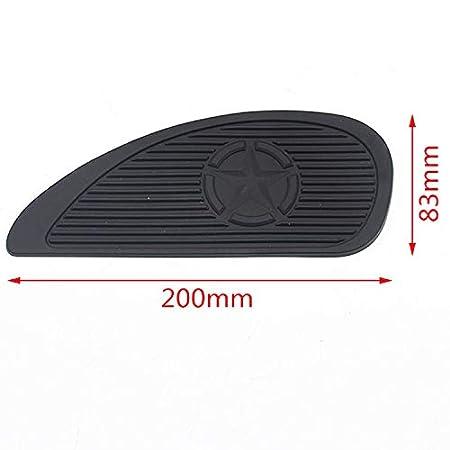 Cikuso 1 Paire Tampon De Traction De R/éservoir De Moto Protecteur De Genou /à Gaz Lat/éral Autocollant Antid/érapant pour Kawasaki Noir
