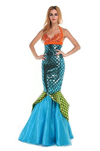 HPLY Women's Sexy Sequins Mermaid Dress Cosplay Elf Costume