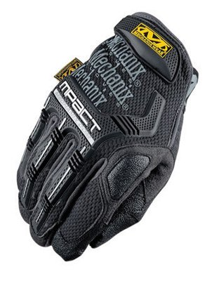 Mechanix Wear® Medium Black And Gray M-Pact® Full Finger Synthetic Leather Anti-Vibration Gloves With Hook And Loop Cuff, PORON® XRD® Palm Padded And Rubberized Grip On Thumb, Index Finger And Palm by Mechanix Wear (Image #1)