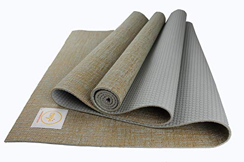 Four Jute - Maji Sports Jute Yoga Mat, Gray, 24 x 72 x 5mm