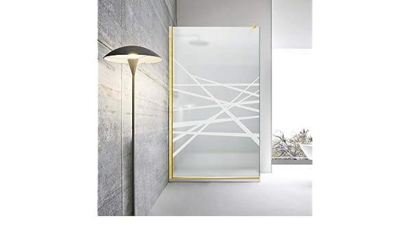 Modern Glass Art Leroy Timeless Oslo - Mampara de ducha (8 mm, cristal templado de seguridad, nano, acabado de latón dorado), blanco: Amazon.es: Bricolaje y herramientas