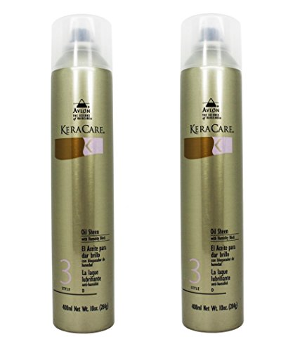 (Avlon KeraCare Oil Sheen with Humidity Block 10 oz.(Set of 2) )