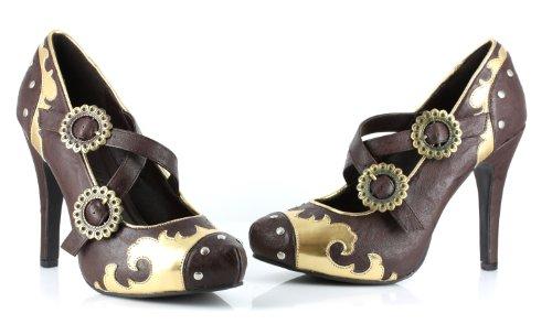 Ellie Shoes Women's 420-Steel Slide Pump, Brown, 10 M US