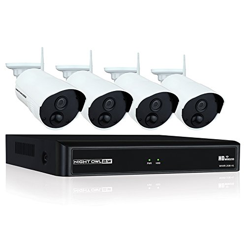 Night Owl Camera System 4 Channel 1080p Wireless Smart Security Hub, White (WNVR201-44P-B)