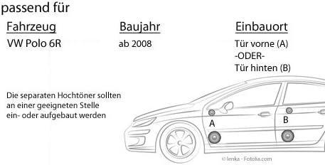 F 62C Einbauset f/ür VW Polo 6R Front Heck 16cm 2-Wege System Auto Einbauzubeh/ör Lautsprecher Boxen Helix JUST SOUND best choice for caraudio