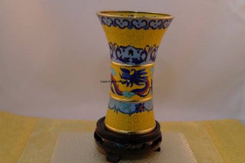 Cloisonne Vase - Beautiful Cloisonne Flared Vase - Hand crafted#CI005