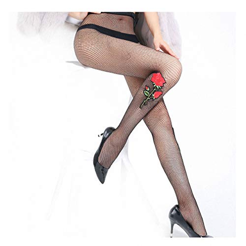 Dawery Womens Embrodiery Butterfly Flore Fishnet Pantyhose Women Tattoo Thigh High Stockings Long Sexy Fishnet Stockings th02