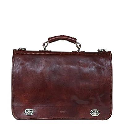 good I Medici Cartella Nottolini Italian Leather Briefcase, Small, Messenger Bag