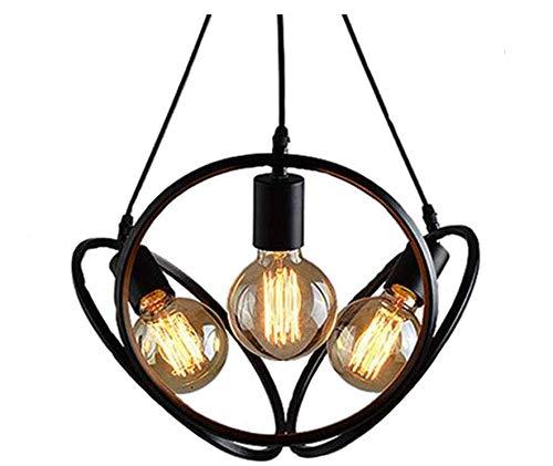 Kronleuchterlampen Lampenschirm Beleuchtung Kronleuchter Industrielle Bar Kreative Kronleuchter Persönlichkeit Cafe Restaurant Bar Schlafzimmer Schmiedeeisen Drei Kopf Dekorative Lichter