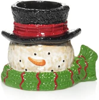 Yankee Candle Holiday Top Hat Snowmen Collection Snowman Head Votive Holder