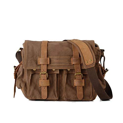 4 Sac couleur De 02in Brown Taille D'extérieur W Size D'épaule Simple 14 17 11 l Toile H Brown 1 One 72 Messager ItqwZBP8