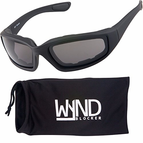 WYND Blocker Polarized Motorcycle & Fishing Floating Sports Wrap Sunglasses (Black / PZ Smoke - Motorsport Sunglasses