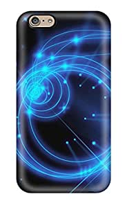 Hot AYCfPGi261uwWrq Glowing Blue Sparkles And Circles Tpu Case Cover Compatible With Iphone 6