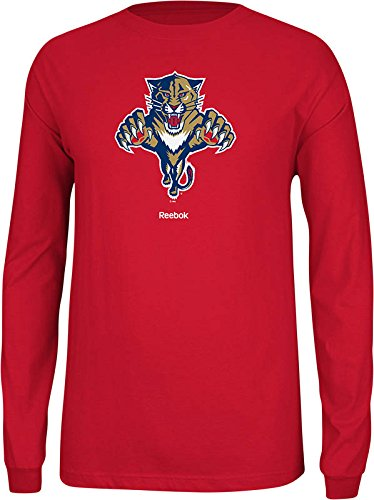 NHL Florida Panthers Men's Jersey Crest Long Sleeve Tee, Large, Red