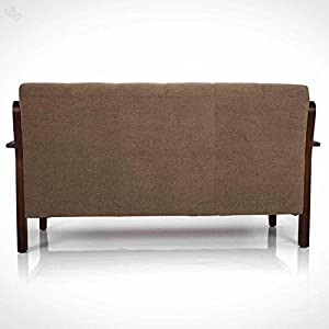 Zikra Three Seater Sofa (Brown Oak)