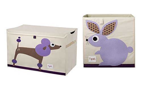 3 Sprouts Toy Chest with Storage Box, Poodle/Rabbit