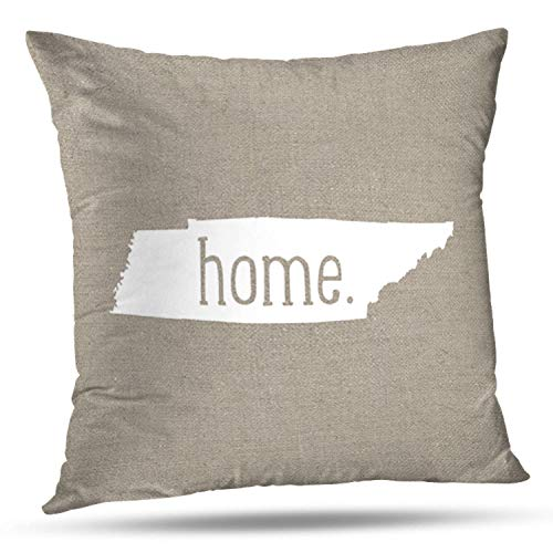 (ONELZ Tennessee Home State Square Decorative Throw Pillow Case, Fashion Style Zippered Cushion Pillow Cover (18X18 inch))
