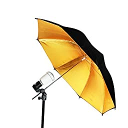 LimoStudio ALL-In-ONE Photo Studio Lighting Kit with Strobe Flash Soft Box Umbrella Light, Photo Studio Chromakey Green Muslin Backdrop Background Support System Kit, Black and Gold Umbrella, AGG406V3