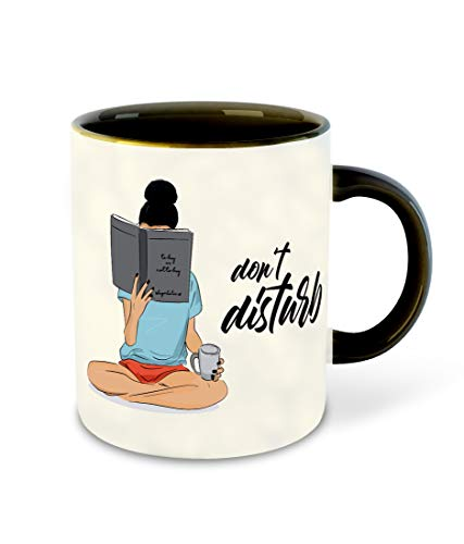 Whats Your Kick – Books Reading, Reader Inspired Designer Printed Black Ceramic Coffee |Tea | Milk Mug (Gift | Books | Motivational Quotes | Hobby (Multi 8) Price & Reviews