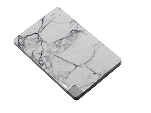 Ultra light, Ultra Thin, Ultra Portable Stylish Marble Design. 2500mAh rechargeable power bank for iPhone and Andriod devices. (White)