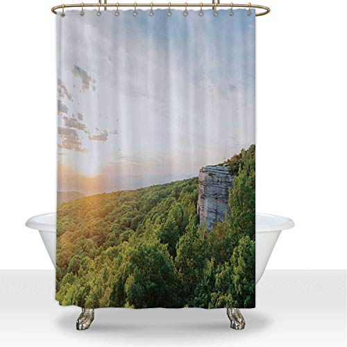 ALUONI Summer Sunset Over Scenic Valley Lanscape View Catskill Mountains NY Durbale Shower Curtain Apartment Essentials,for Hotel,60''W x 72''H